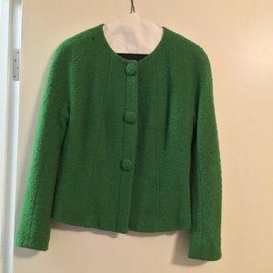 Lafayette 148 Blazer Size 4 Green